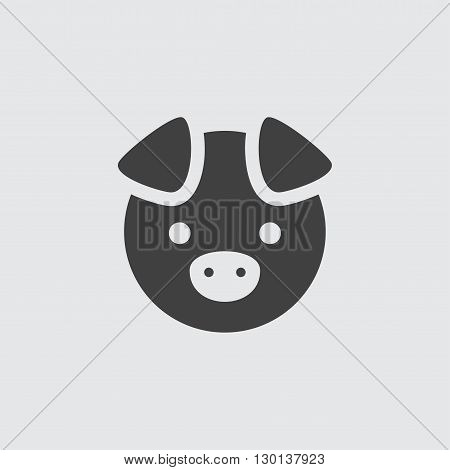 Pig icon illustration isolated vector sign symbol