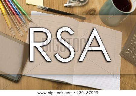 Rsa - Business Concept With Text