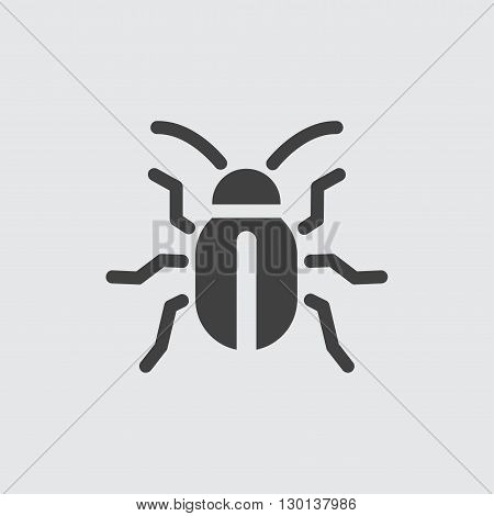 Beetle icon illustration isolated vector sign symbol