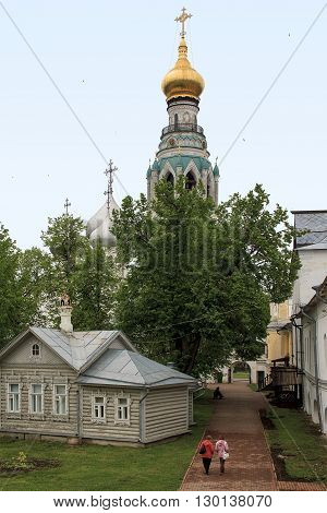 Vologda, Russia - May 24: This is the territory of the Vologda Kremlin archbishop's court which is now the Vologda State Museum-Reserve May 24, 2013 in Vologda, Russia.
