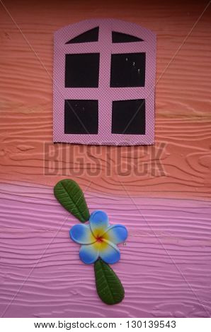 Let's window decorating a small house for children.