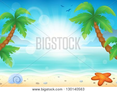 Beach theme image 8 - eps10 vector illustration.