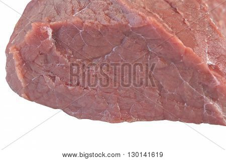 Raw Beef Tenderloin Meat Cut Isolated On White Background