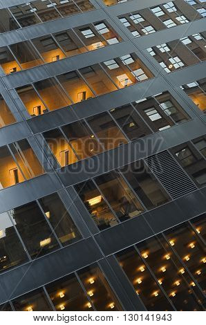 Windows of the Manhattan, New York City.
