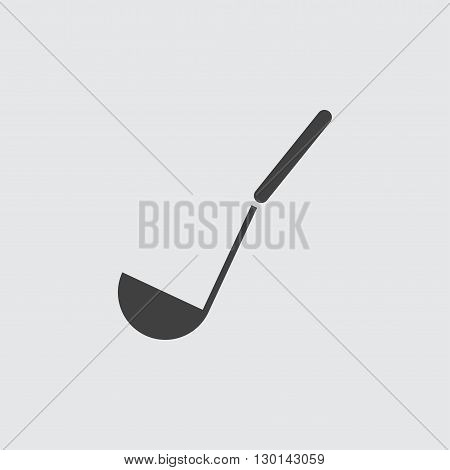 Soup ladle icon illustration isolated vector sign symbol