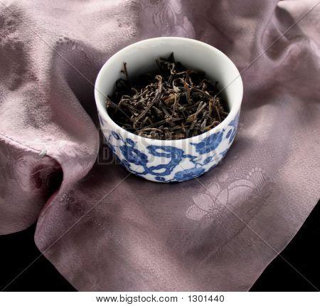 Cup Of Tea On Lavender Silk