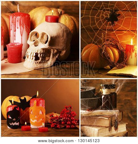 Collage of different photos for Halloween