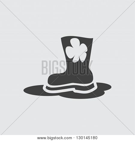 Rubber boot icon illustration isolated vector sign symbol
