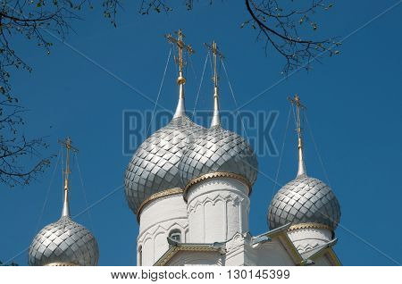 Rostov the Great in spring view to the kremlin The Church Of the Resurrection. The Golden Ring of Russia