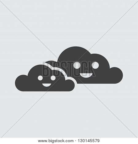 Cloudy icon illustration isolated vector sign symbol