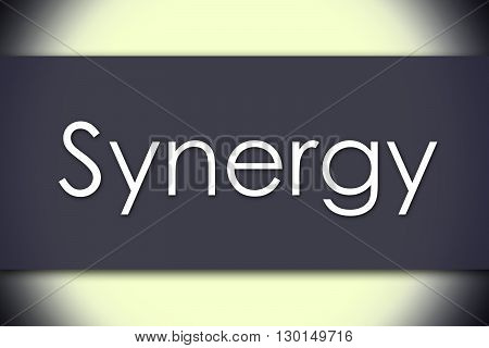 Synergy - Business Concept With Text
