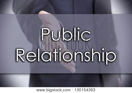 Public Relationship - Business Concept With Text