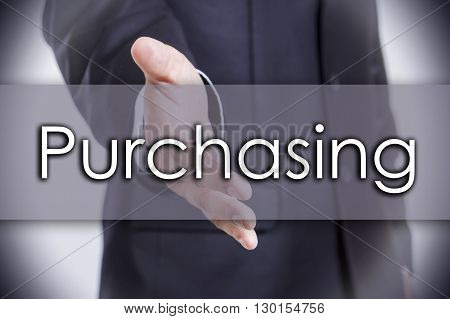 Purchasing - Business Concept With Text