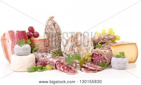 assorted meat and cheese