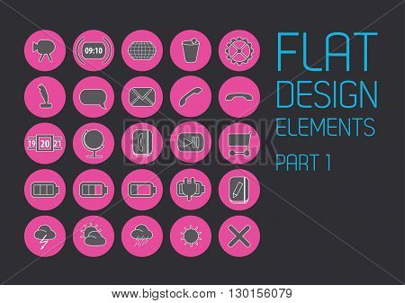 Flat design template - Vector Illustration. Vector art