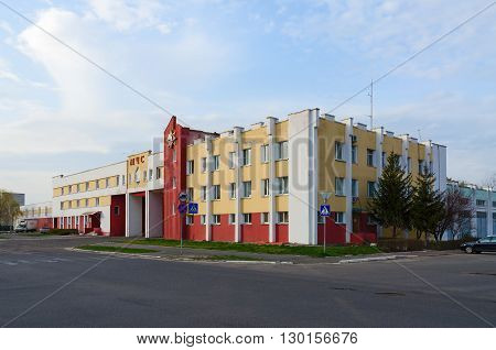 GOMEL BELARUS - APRIL 10 2016: The building of the Gomel regional management of Ministry of Emergency Situations of Republic of Belarus