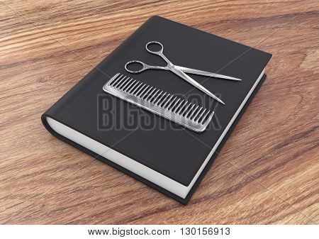 Hairdresser Tool On A Book