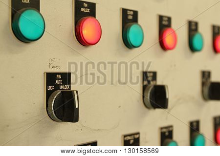 The Industrial electrical equipment controller board in heavy factory