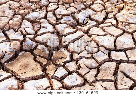 Cracked soil, Drought dry land, cracks in the earth.