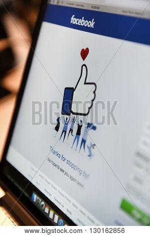 Facebook Home Page On A Monitor Screen