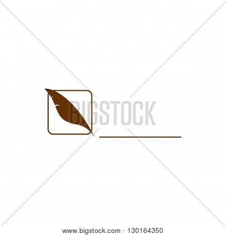 Feather making line vector illustration isolated on white background.