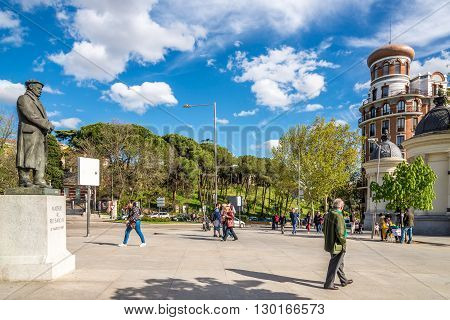 MADRID,SPAIN - APRIL 24,2016 - In the streets of Madrid. Madrid is the capital of Spain.