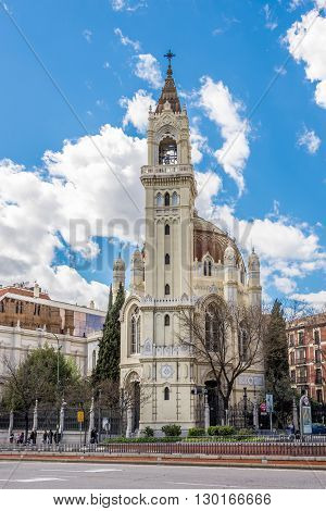 MADRID,SPAIN - APRIL 24,2016 - Church of San Manuel and San Benito in Madrid.The Church of San Manuel y San Benito (Iglesia de San Manuel y San Benito) is a Catholic church located in Madrid.