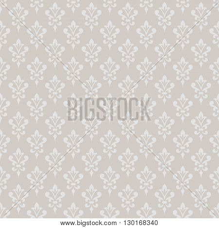 Damask wallpaper. Elegant background in Victorian style. Elegant vintage ornament in monochrome colors. Vector seamless pattern.