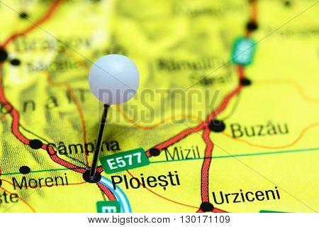 Ploiesti pinned on a map of Romania