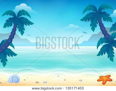 Beach topic image 2 - eps10 vector illustration.