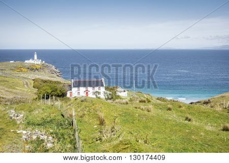 An image of a lighthouse in Ireland Donegal