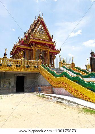 Wat Baan Ngao Temple in Ranong Thailand.