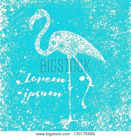 Grunge Flamingo Poster