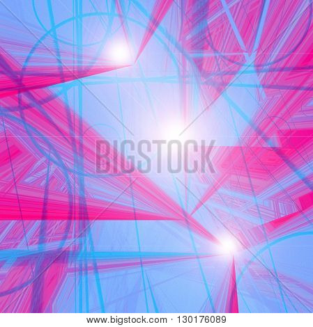 Abstract spectrum coloring background with visual lens flare effects