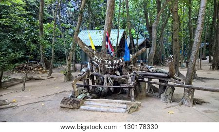 Symbol of Maya Bay island in the jungle