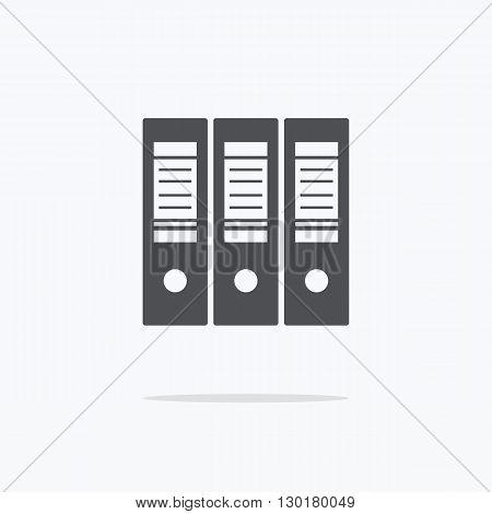 Folder. Icon folders on a light background. Vector illustration.