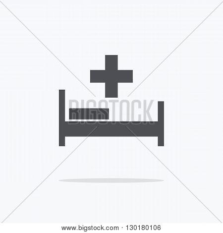 Hospital. Hospital Icon on a light background. Vector illustration.