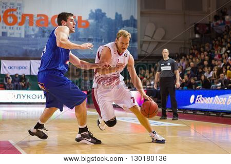 Bc Krasnye Krylia Guard Anton Ponkrashov (7) With Ball