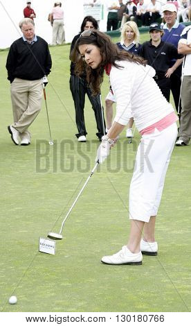 Catherine Zeta-Jones at the Ninth Annual Michael Douglas & Friends Celebrity Golf Tournament held at the Trump National Golf Club in Rancho Palos Verdes, USA on April 29, 2007.