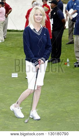 Heather Locklear at the 9th Annual Michael Douglas & Friends Celebrity Golf Tournament held at the Trump National Golf Club in Rancho Palos Verdes, USA on April 29, 2007.