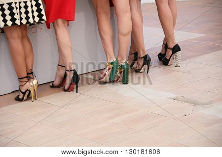 Rossy De Palma shoe detail, attends the 'Julietta' Photocall during the 69th annual Cannes Film Festival at the Palais des Festivals on May 17, 2016 in Cannes, France.
