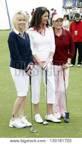 Heather Locklear, Catherine Zeta-Jones and Cheryl Ladd at the 9th Annual Michael Douglas & Friends Celebrity Golf Tournament held at the Trump National Golf Club in Palos Verdes USA on April 29, 2007.