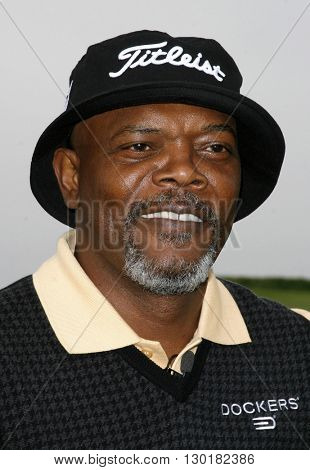 Samuel L. Jackson at the 9th Annual Michael Douglas & Friends Celebrity Golf Tournament held at the Trump National Golf Club in Rancho Palos Verdes, USA on April 29, 2007.