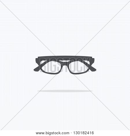 Glasses. Icon glasses on a light background. Vector illustration.
