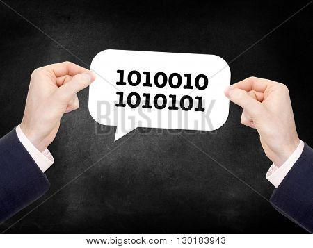 Computer binary on a speechbubble