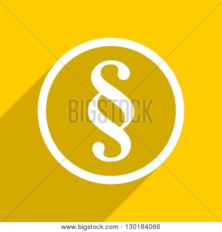 yellow flat design paragraph web modern icon for mobile app and internet