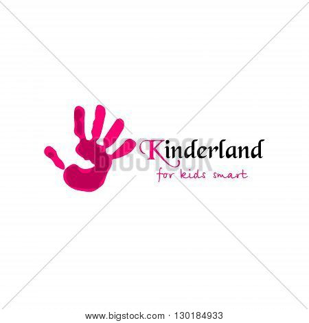 Vector logo for children club and kindergarden. Vector illustration