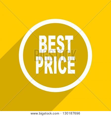 yellow flat design best price web modern icon for mobile app and internet