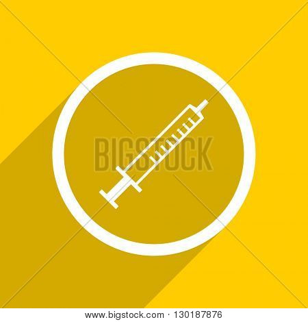 yellow flat design medicine web modern icon for mobile app and internet