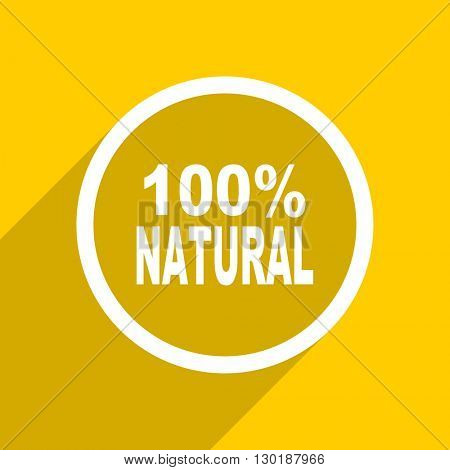 yellow flat design natural web modern icon for mobile app and internet